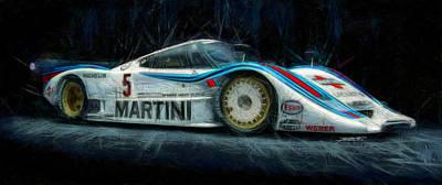 Lancia Lc2 Ferrari Original by Tano V-Dodici ArtAutomobile