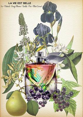 Lancome La Vie Est Belle Perfume Notes - By Diana Van Art Print by Diana Van