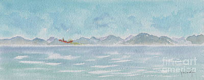 Caribbean Sea Painting - Land Ahoy Cruising By Cuba by Pat Katz