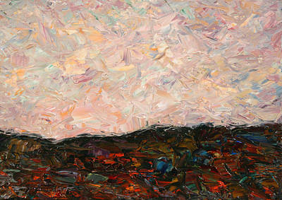 Expressionist Painting - Land And Sky by James W Johnson