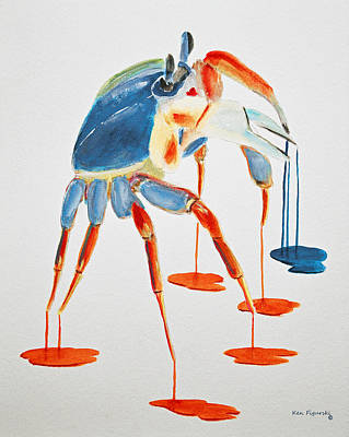 Land Crab Fight Stance Art Print
