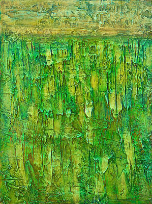 Monica Sweet Painting - Land In Green by Habib Ayat