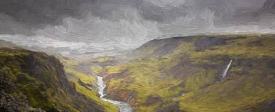 Digital Art - Land Like This II by Jon Glaser