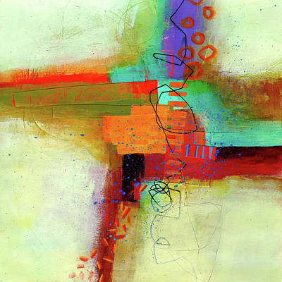 Abstracted Painting - Land Line #1 by Jane Davies