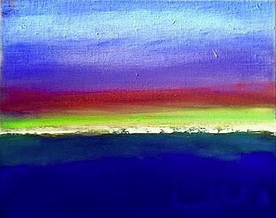 Painting - Land Line by Les Leffingwell