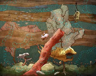 Tentacles Digital Art - Land Lubber by Ethan Harris