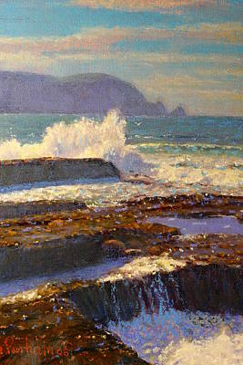 Painting - Land Meets Sea by Terry Perham