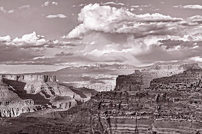 Photograph - Land Meets Sky Sepia by Leda Robertson