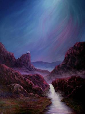 Wall Art - Painting - Land Of Glowing Waters by Vicki Van Vynckt