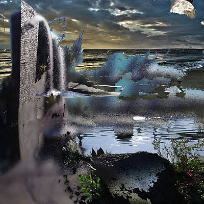 Other World Digital Art - Land Of Lost Illusions by Another Dimension Art