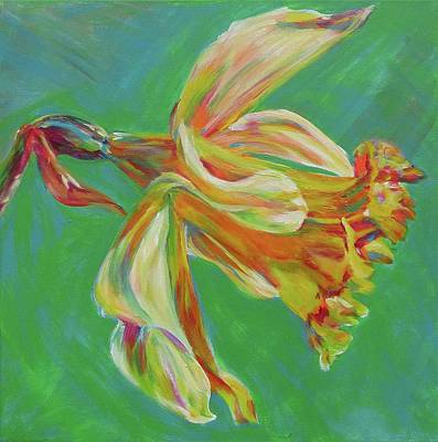 Daffodils Painting - Land Of My Fathers by Karin McCombe Jones