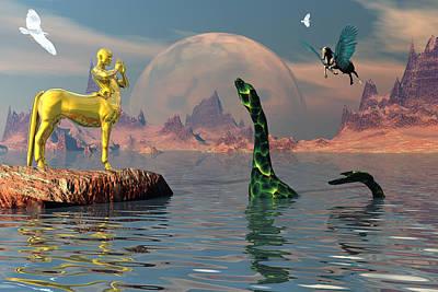 Centaur Digital Art - Land Of Myth by Claude McCoy