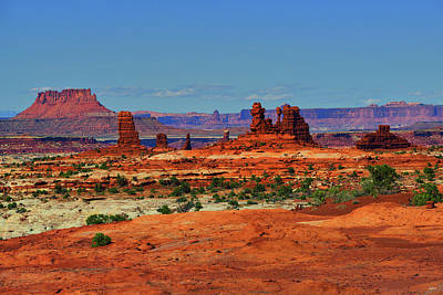 Photograph - Land Of Standing Rocks by Greg Norrell