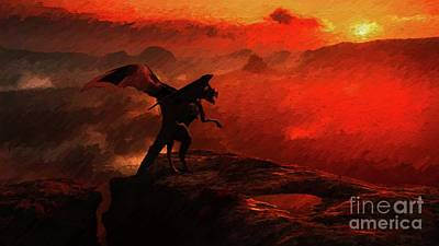 Fantasy Royalty-Free and Rights-Managed Images - Land of the Dragon by Esoterica Art Agency