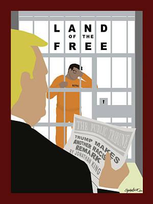 First Amendment Digital Art - Land Of The Free by Elizabeth Shavrick