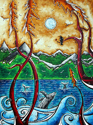 Tree Painting - Land Of The Free Original Madart Painting by Megan Duncanson