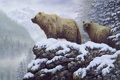 Wall Art - Painting - Land Of The Grizzly by Guy Crittenden