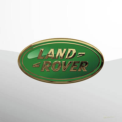 Digital Art - Land Rover 3d Badge Special Edition On White by Serge Averbukh