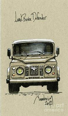 919 Painting - Land Rover Defender by Alain Baudouin