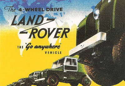 Advertizement Digital Art - Land Rover by Georgia Fowler