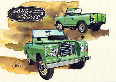 Land Rover Painting - Land Rover Vintage Series by Yoshiharu Miyakawa