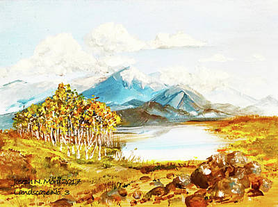 Painting - Land Scape No.-3 by Joseph Mora