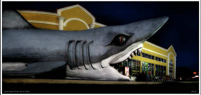 Photograph - Land Shark At The Beach Towel Shop by Gary Warnimont