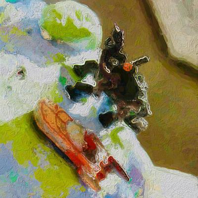 Land Speeder And Dino Take On The Floatsam Art Print