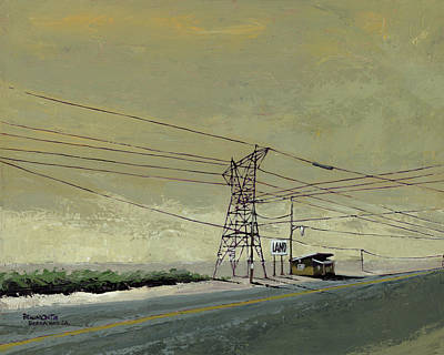 Back Road Painting - Land by Steve Beaumont
