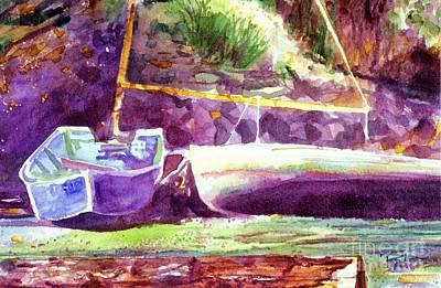 Landed Boats Art Print