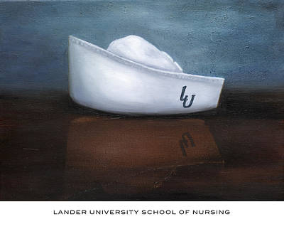 Painting - Lander University School Of Nursing by Marlyn Boyd