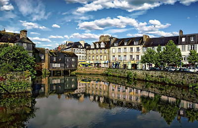 Photograph - Landerneau Village View by Anthony Dezenzio