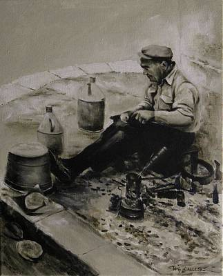 Painting - Landier.  Tinsmith. by Tony Calleja