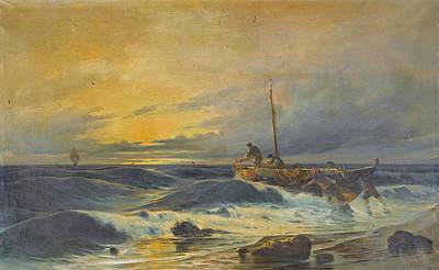 Painting - Landing Ashore by Vasilios Chatzis