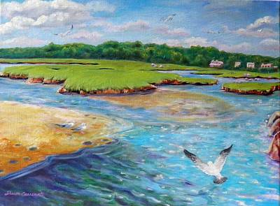 Landing At Jones River Salt Marsh Art Print