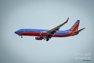 Photograph - Landing At Los Angeles Southwest Jet N8318f Airplane Art by Reid Callaway