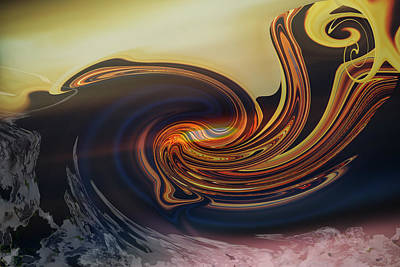 Digital Art - Landing At The Beach - Abstract by rd Erickson