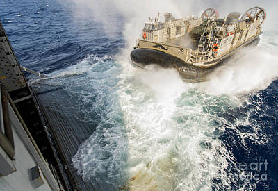Sea Painting - Landing Craft Air Cushion by Celestial Images