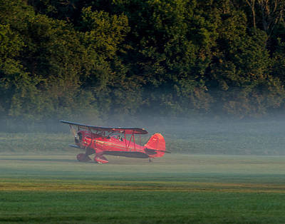 Photograph - Landing In The Morning Mist by Leah Palmer