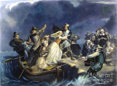 1620 Photograph - Landing Of The Pilgrims by Granger