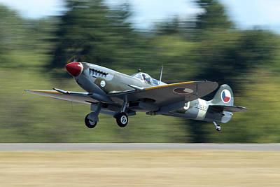 Landing Spitfire Art Print