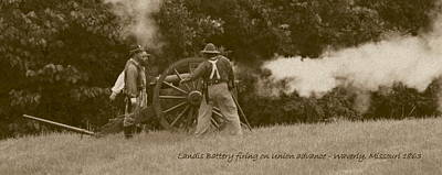 Photograph - Landis Battery Firing On Union Advance by David Dunham