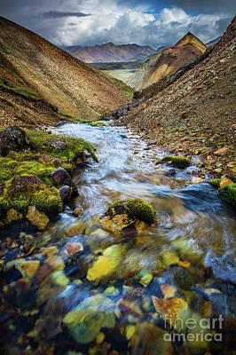 Photograph - Landmannalaugar Creek by Inge Johnsson