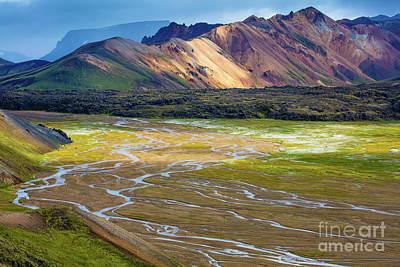 Photograph - Landmannalaugar Delta by Inge Johnsson