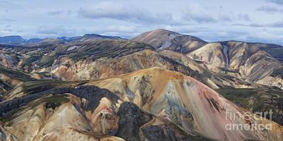 Photograph - Landmannalaugar Panorama 3 by Rudi Prott