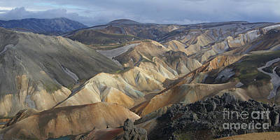 Photograph - Landmannalaugar Rhyolite Mountains Iceland by Rudi Prott