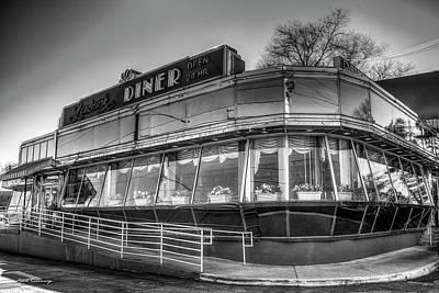 Photograph - Landmark Diner Bw Classic Buckhead Atlanta Art by Reid Callaway