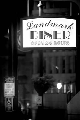 Landmark Diner Art Print