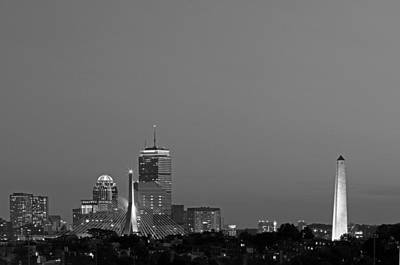 Photograph - Landmarks Of Boston by Juergen Roth