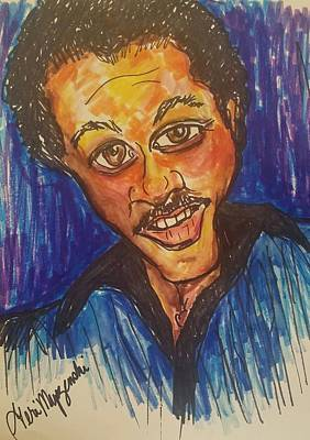 Billy Dee Williams Drawing -  Lando Calrissian Billy Dee Williams by Geraldine Myszenski